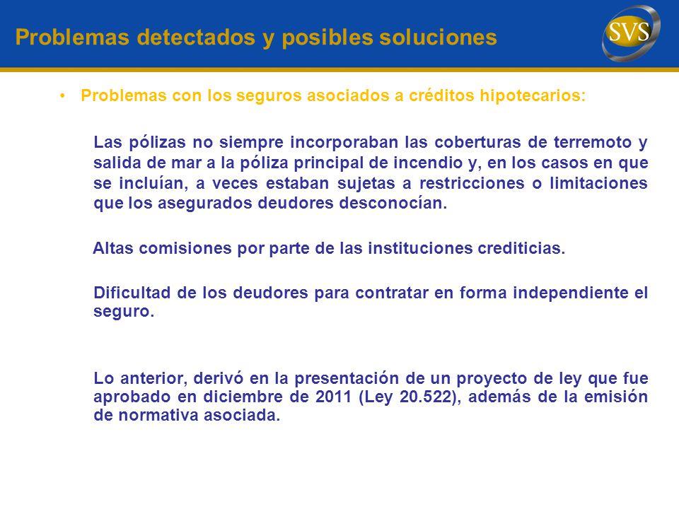 Problemas detectados y posibles soluciones