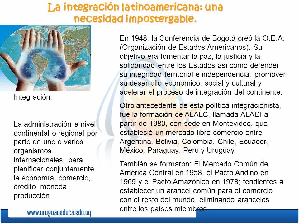 La integración latinoamericana: una necesidad impostergable.
