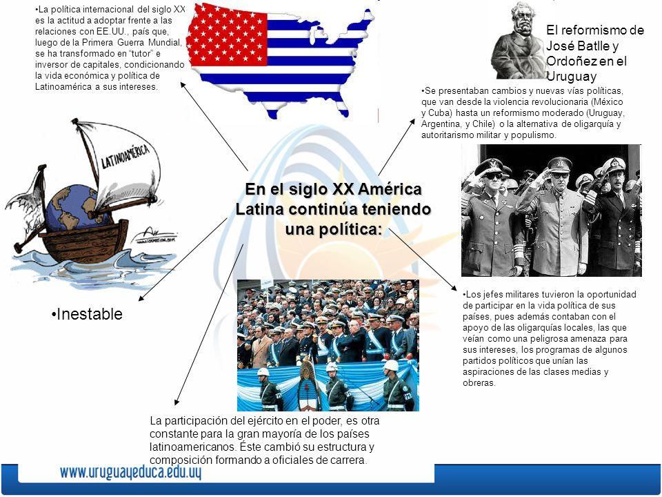 En el siglo XX América Latina continúa teniendo una política: