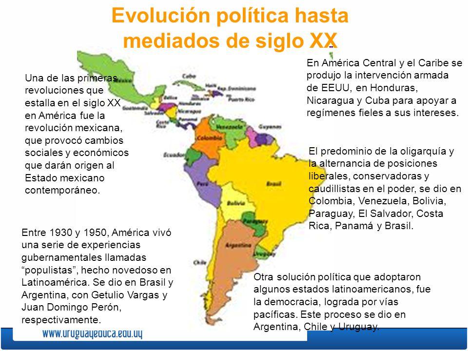 Evolución política hasta mediados de siglo XX