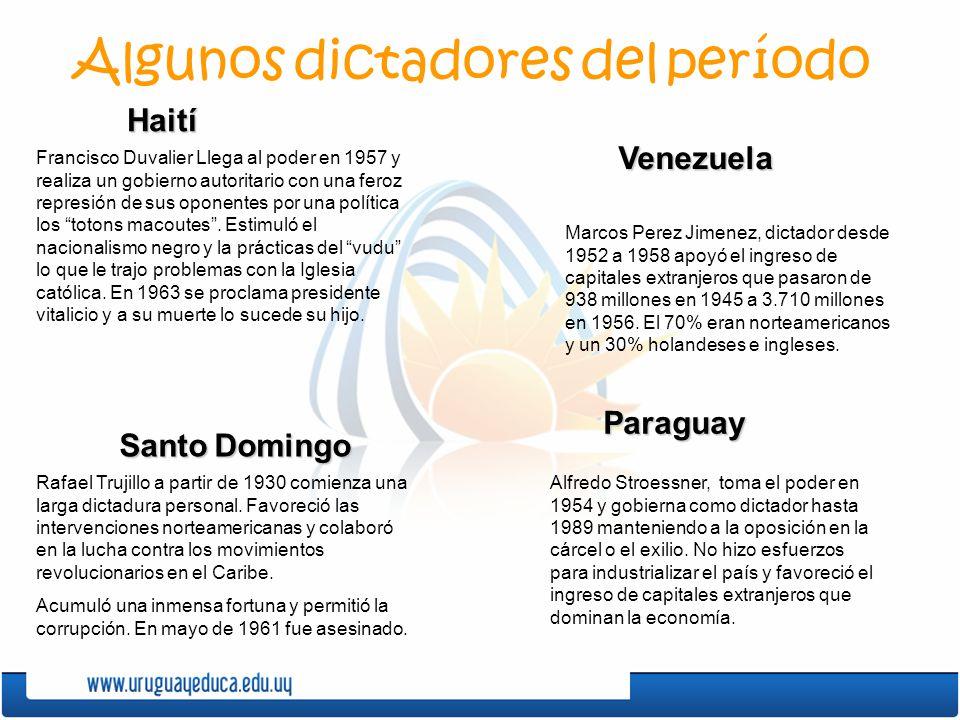 Algunos dictadores del período