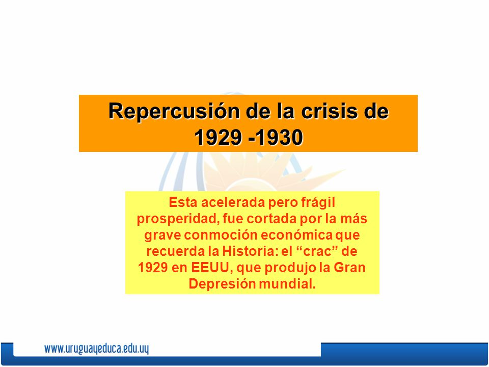 Repercusión de la crisis de 1929 -1930