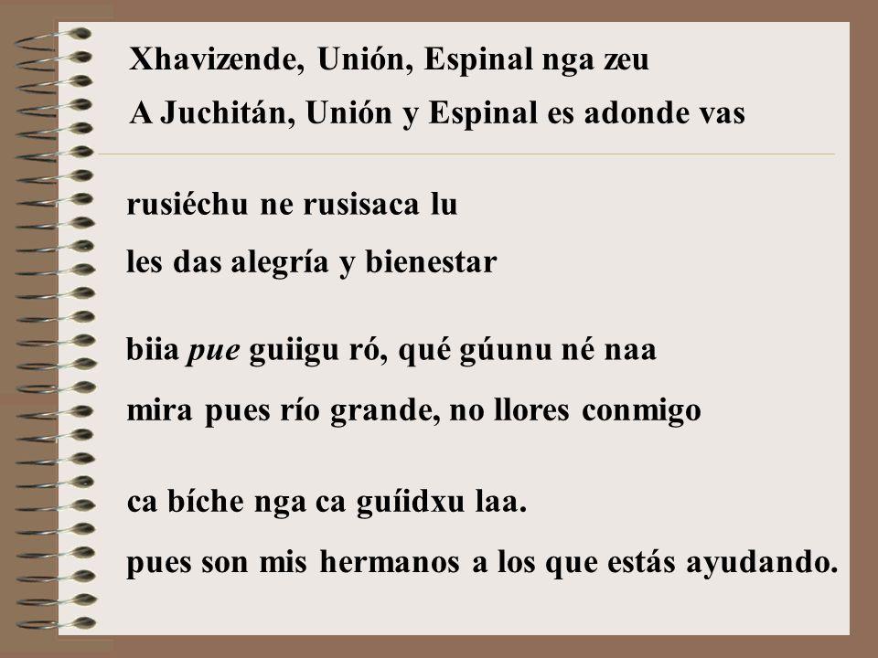 Xhavizende, Unión, Espinal nga zeu