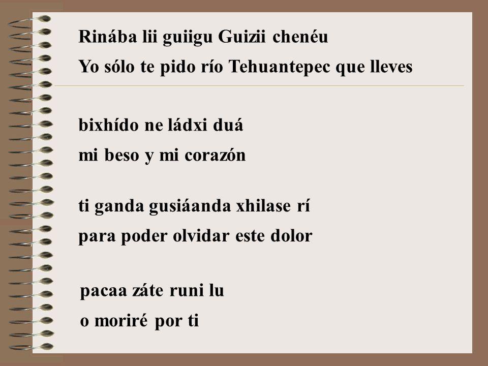 Rinába lii guiigu Guizii chenéu
