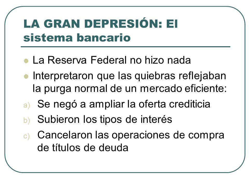 LA GRAN DEPRESIÓN: El sistema bancario