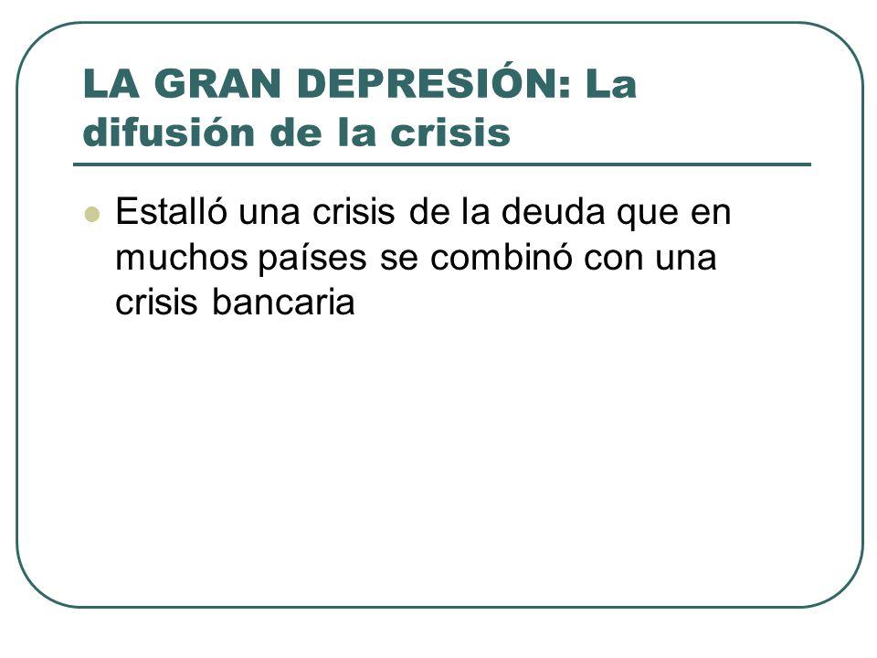 LA GRAN DEPRESIÓN: La difusión de la crisis