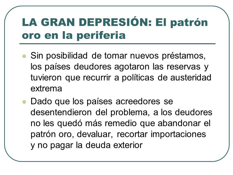 LA GRAN DEPRESIÓN: El patrón oro en la periferia
