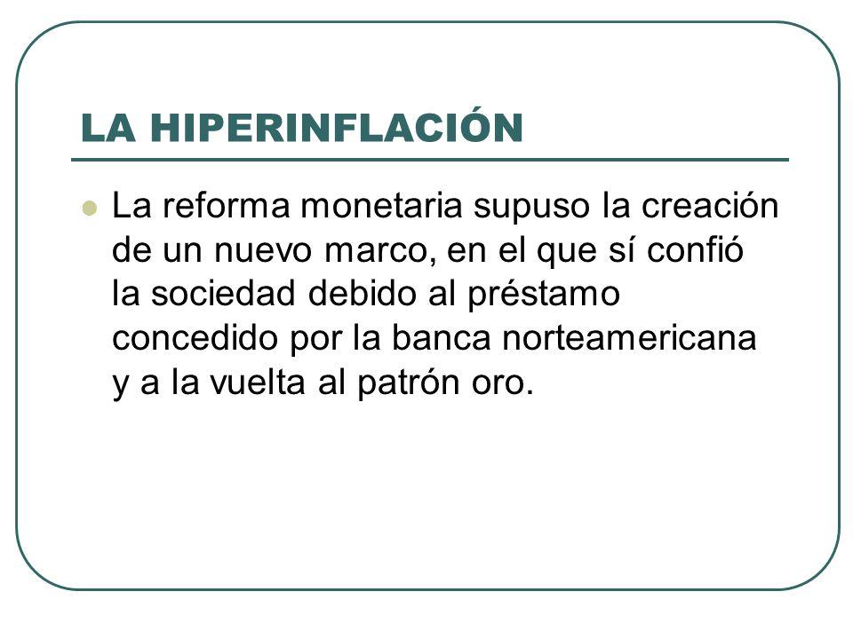 LA HIPERINFLACIÓN