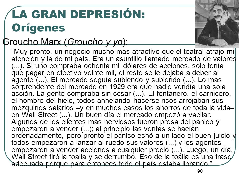 LA GRAN DEPRESIÓN: Orígenes