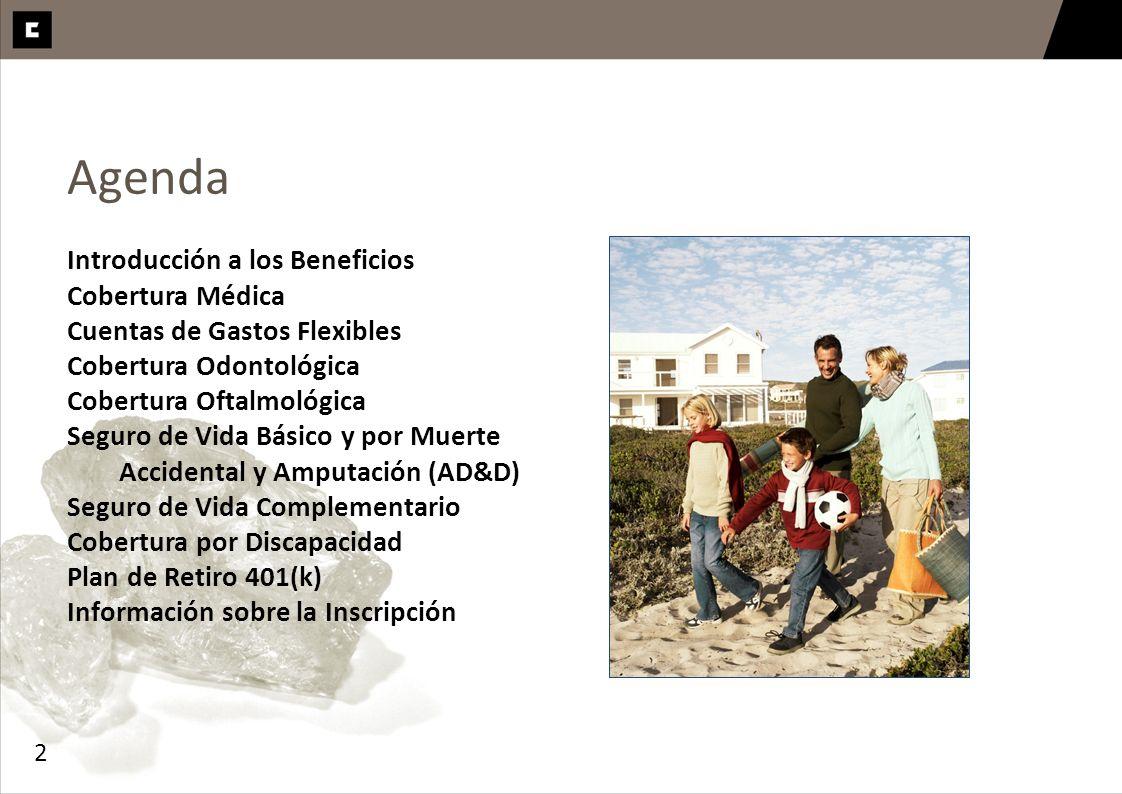 Agenda Introducción a los Beneficios Cobertura Médica