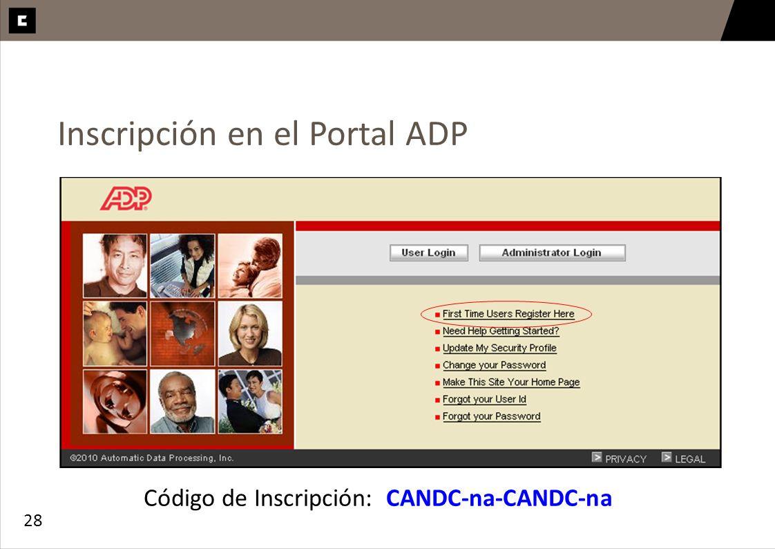 Inscripción en el Portal ADP