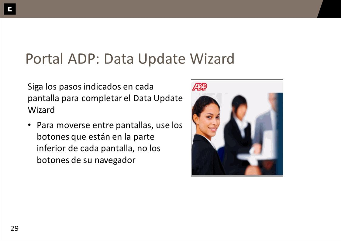 Portal ADP: Data Update Wizard