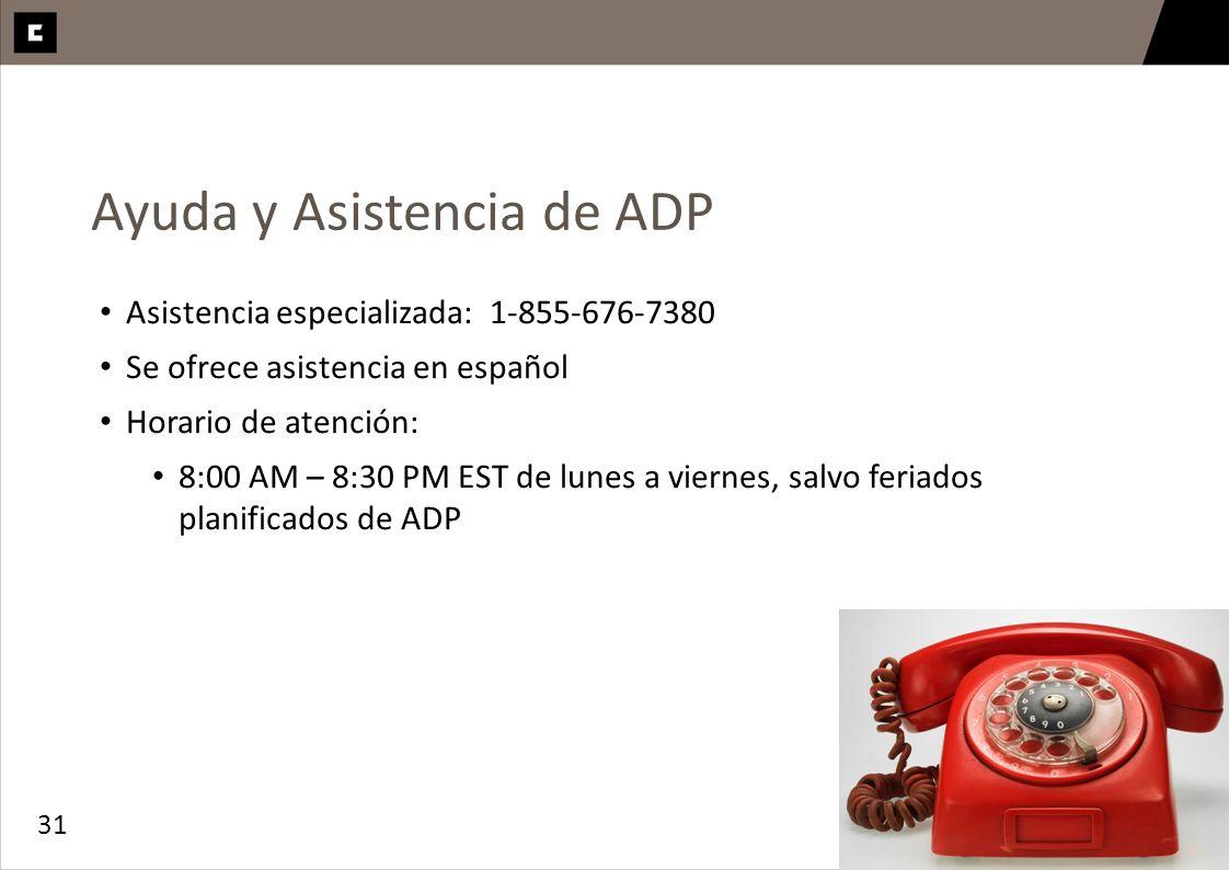 Ayuda y Asistencia de ADP