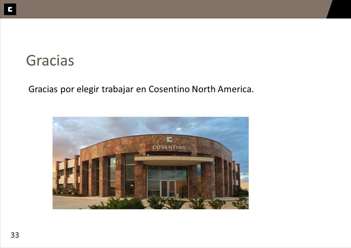 Gracias Gracias por elegir trabajar en Cosentino North America. 33