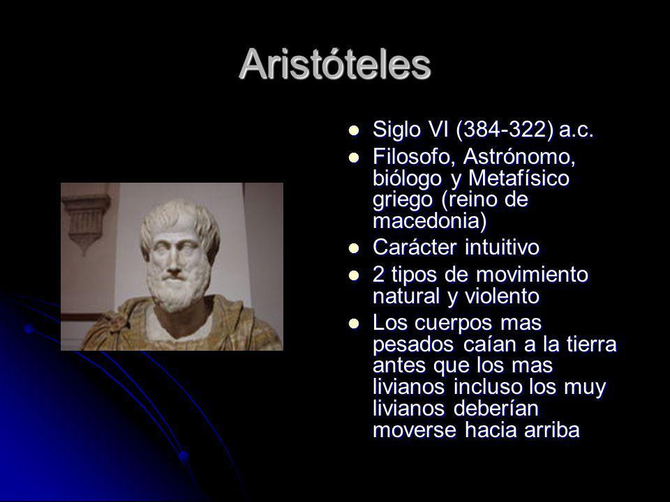 Aristóteles Siglo VI (384-322) a.c.
