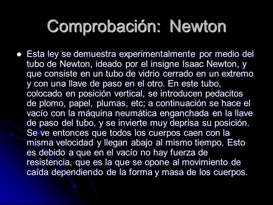 Comprobación: Newton