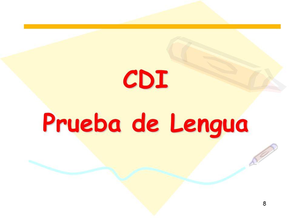 CDI Prueba de Lengua