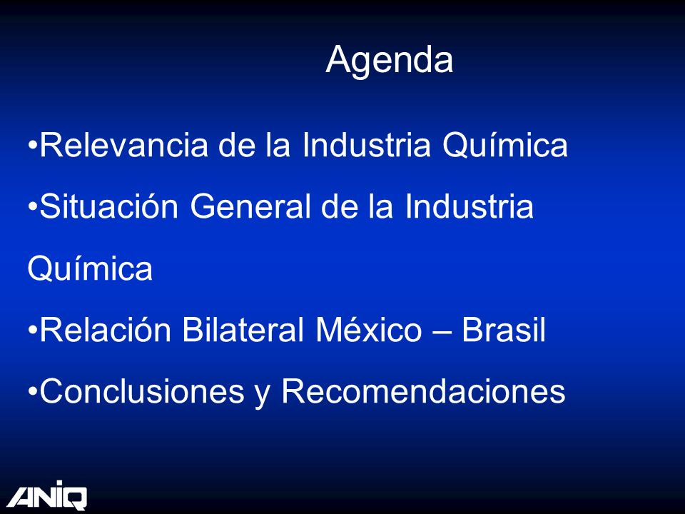 Agenda Relevancia de la Industria Química