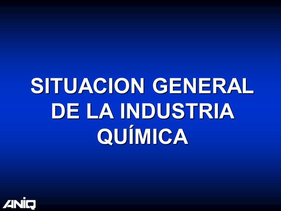 SITUACION GENERAL DE LA INDUSTRIA QUÍMICA