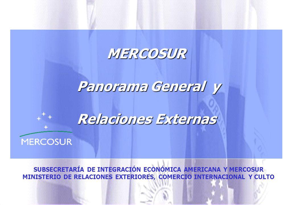 MERCOSUR Panorama General y Relaciones Externas