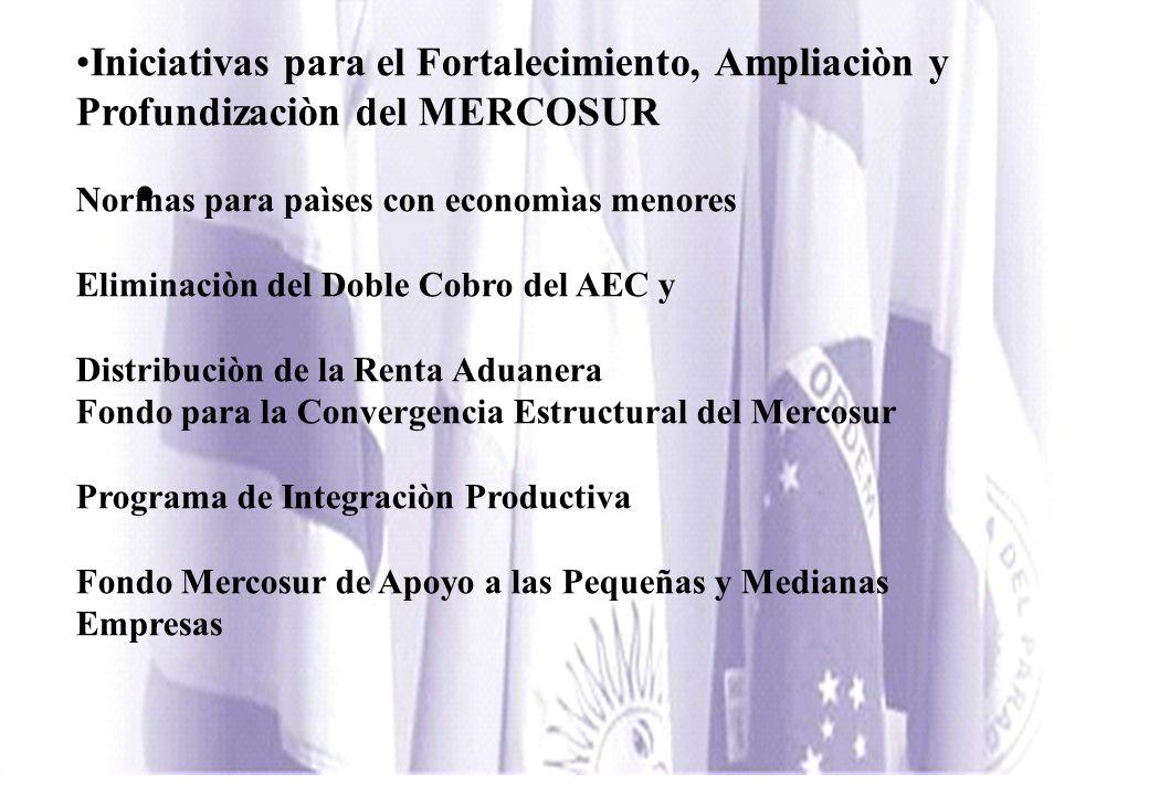Iniciativas para el Fortalecimiento, Ampliaciòn y Profundizaciòn del MERCOSUR