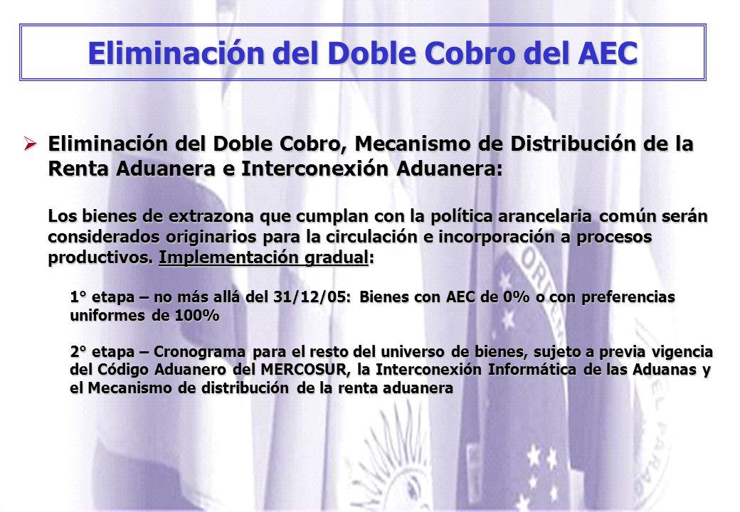 Eliminación del Doble Cobro del AEC