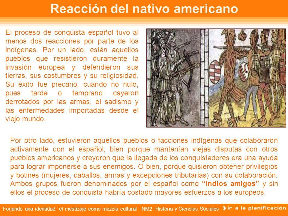 Reacción del nativo americano