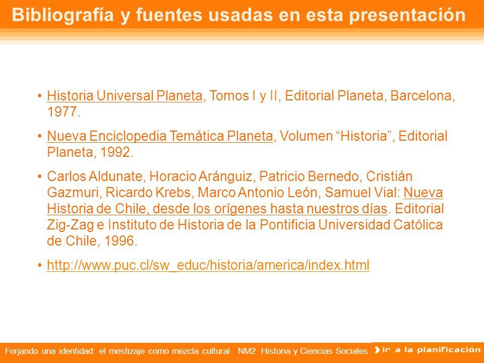 Bibliografía y fuentes usadas en esta presentación