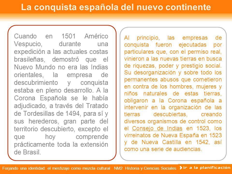 La conquista española del nuevo continente