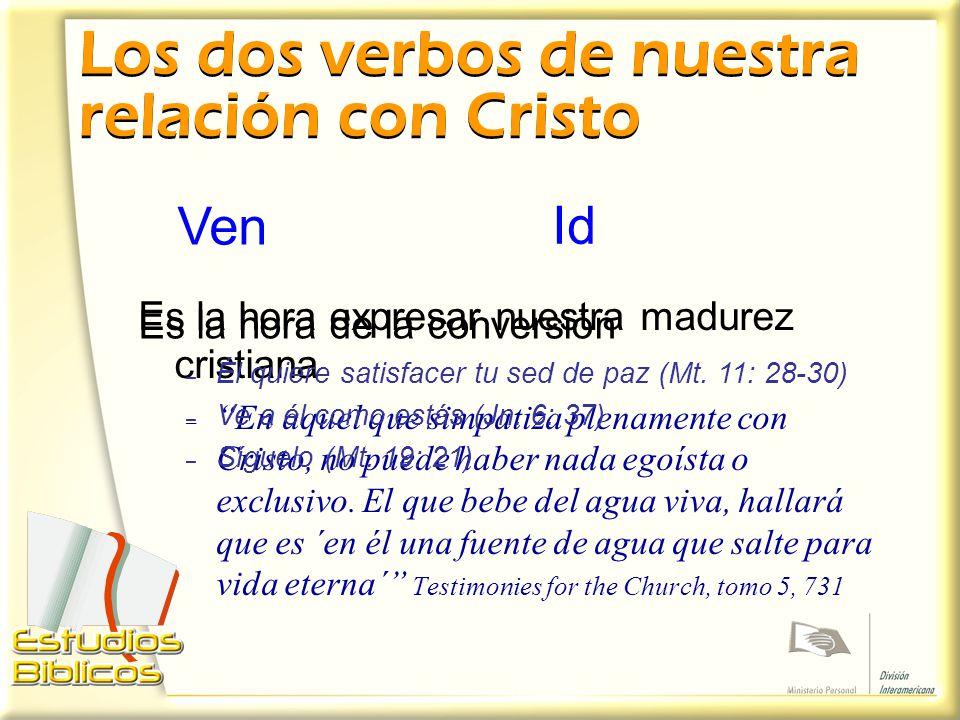 Los dos verbos de nuestra relación con Cristo