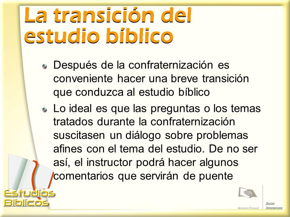 La transición del estudio bíblico