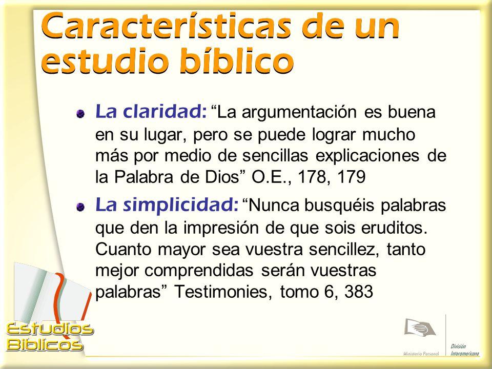 Características de un estudio bíblico
