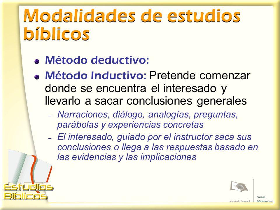 Modalidades de estudios bíblicos