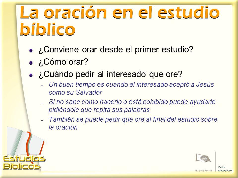 La oración en el estudio bíblico
