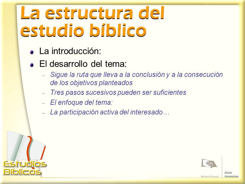 La estructura del estudio bíblico
