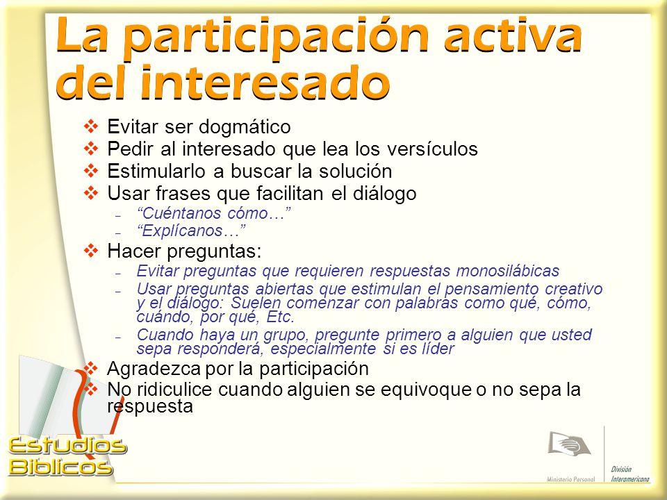 La participación activa del interesado