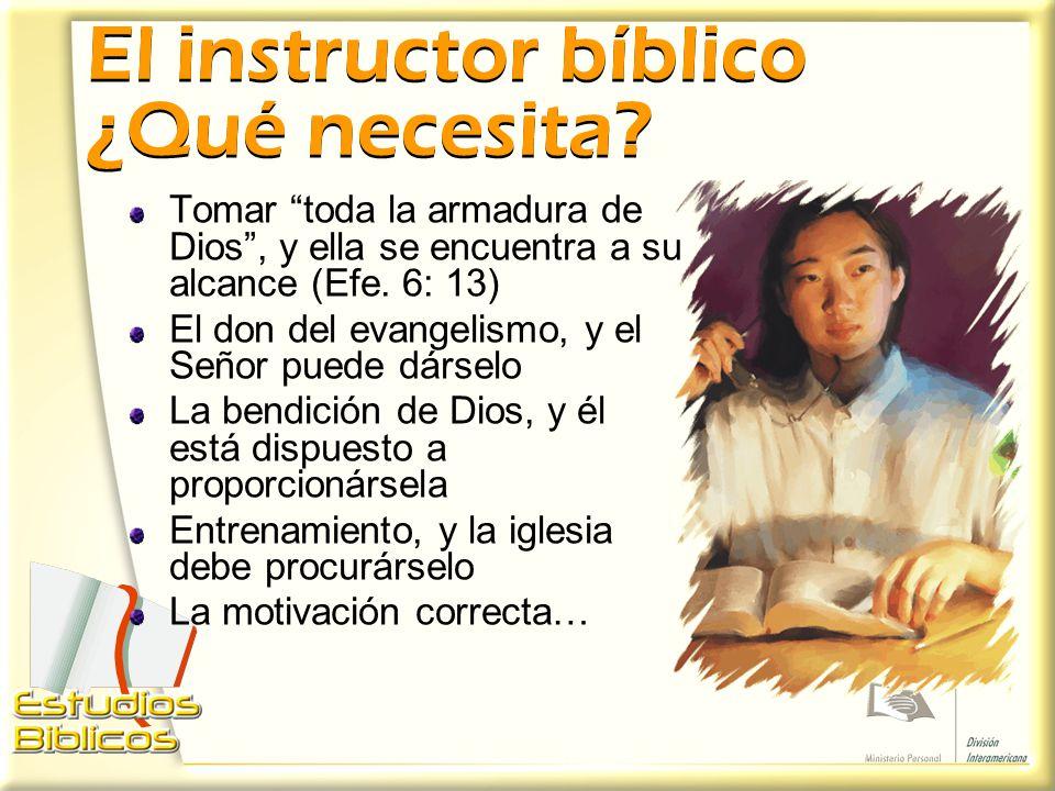 El instructor bíblico ¿Qué necesita