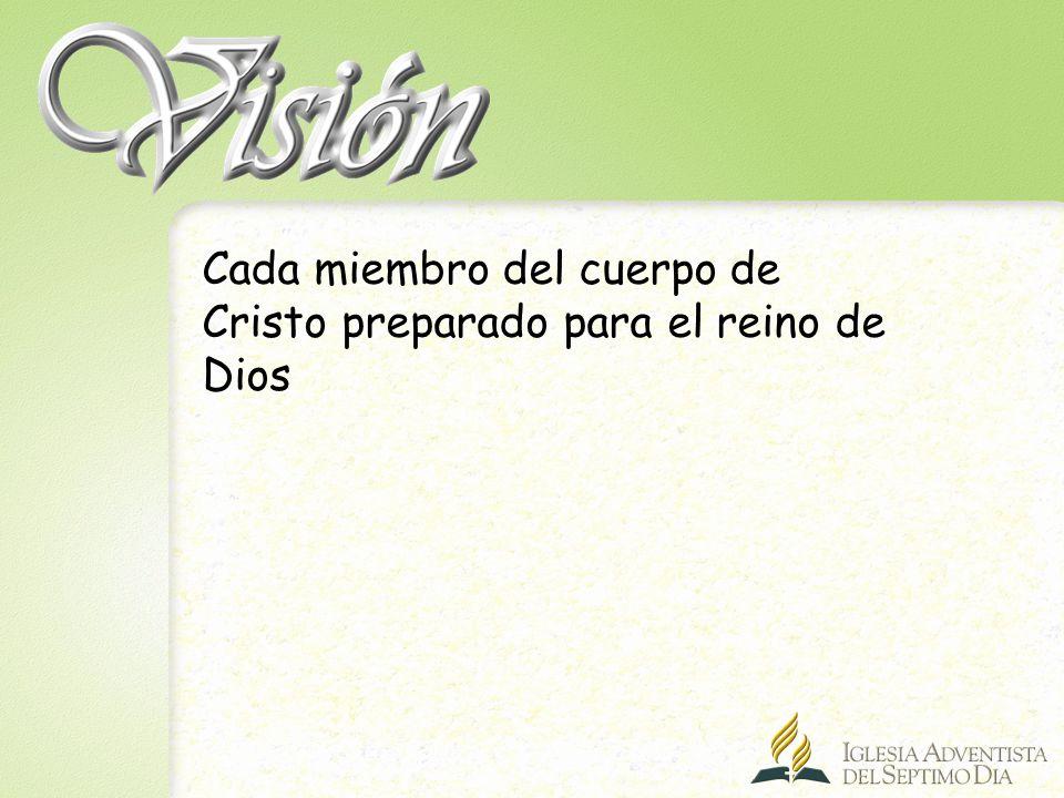 Cada miembro del cuerpo de Cristo preparado para el reino de Dios