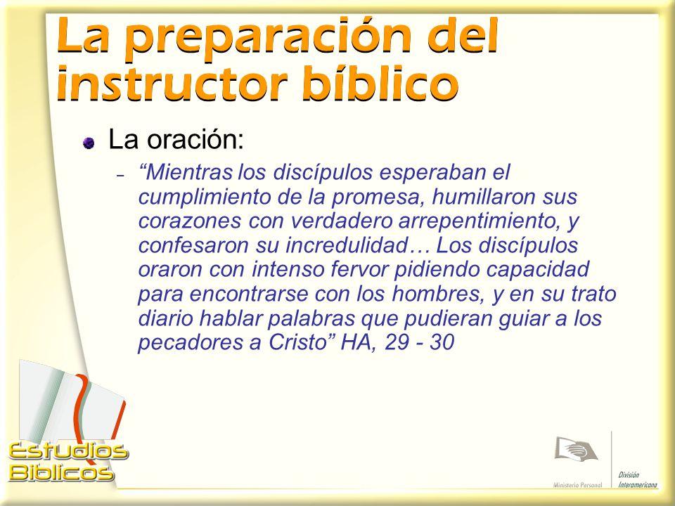 La preparación del instructor bíblico