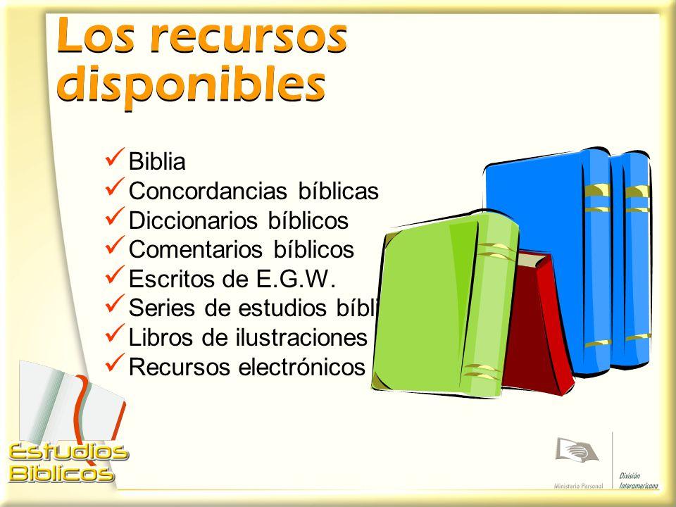 Los recursos disponibles
