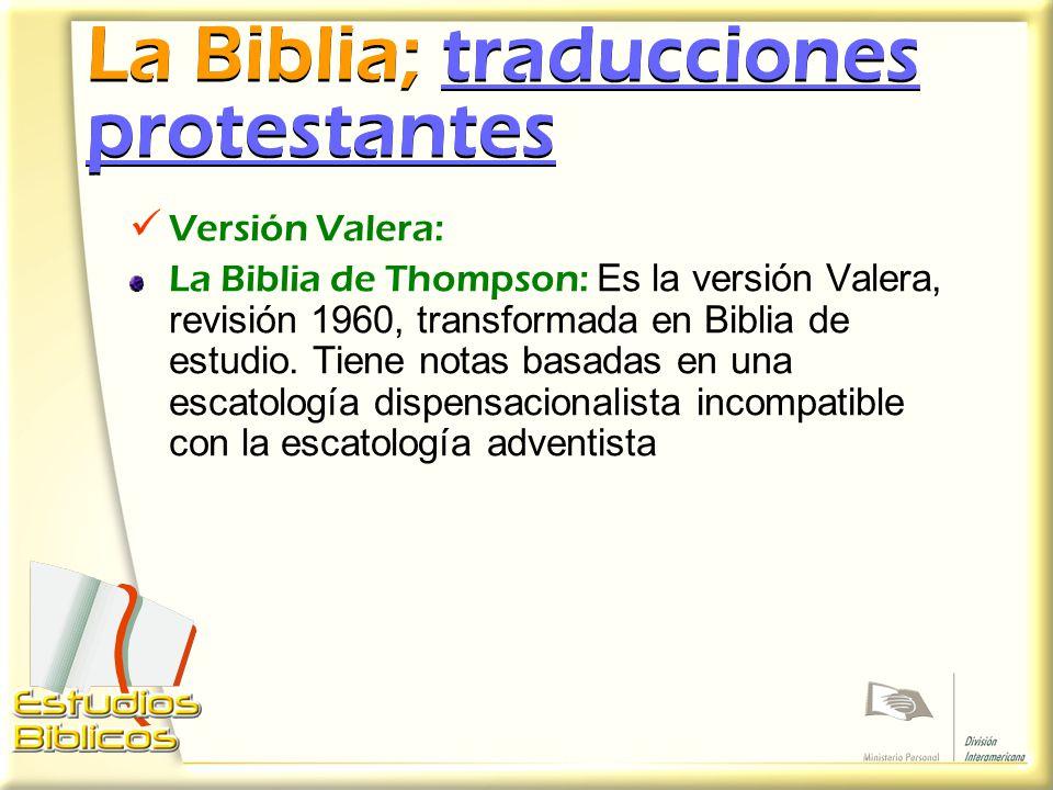 La Biblia; traducciones protestantes