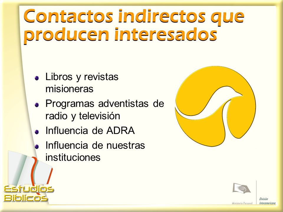 Contactos indirectos que producen interesados