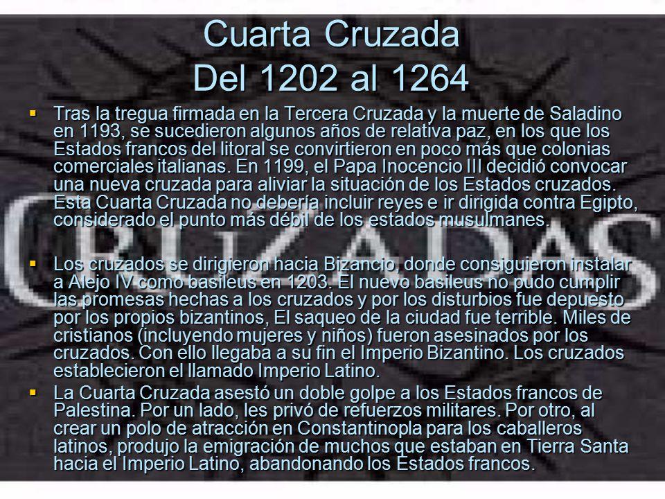 Cuarta Cruzada Del 1202 al 1264