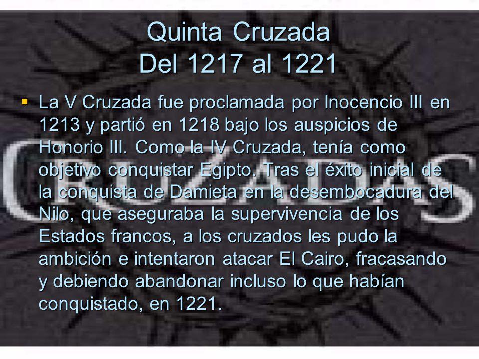 Quinta Cruzada Del 1217 al 1221