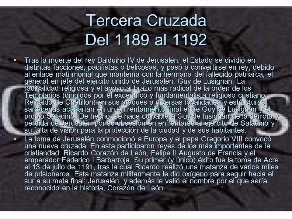 Tercera Cruzada Del 1189 al 1192