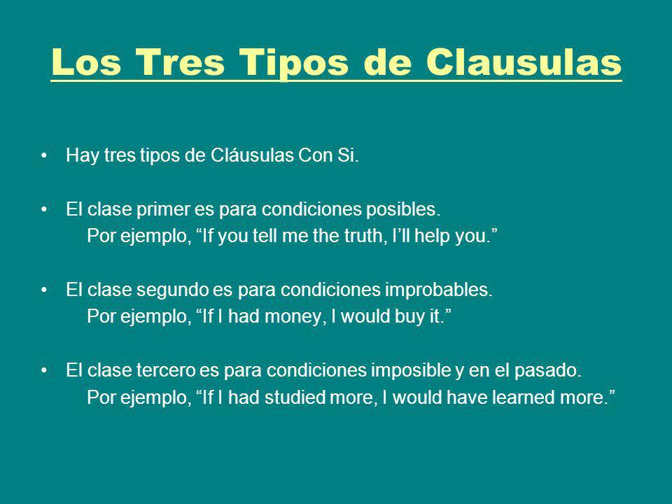 Los Tres Tipos de Clausulas