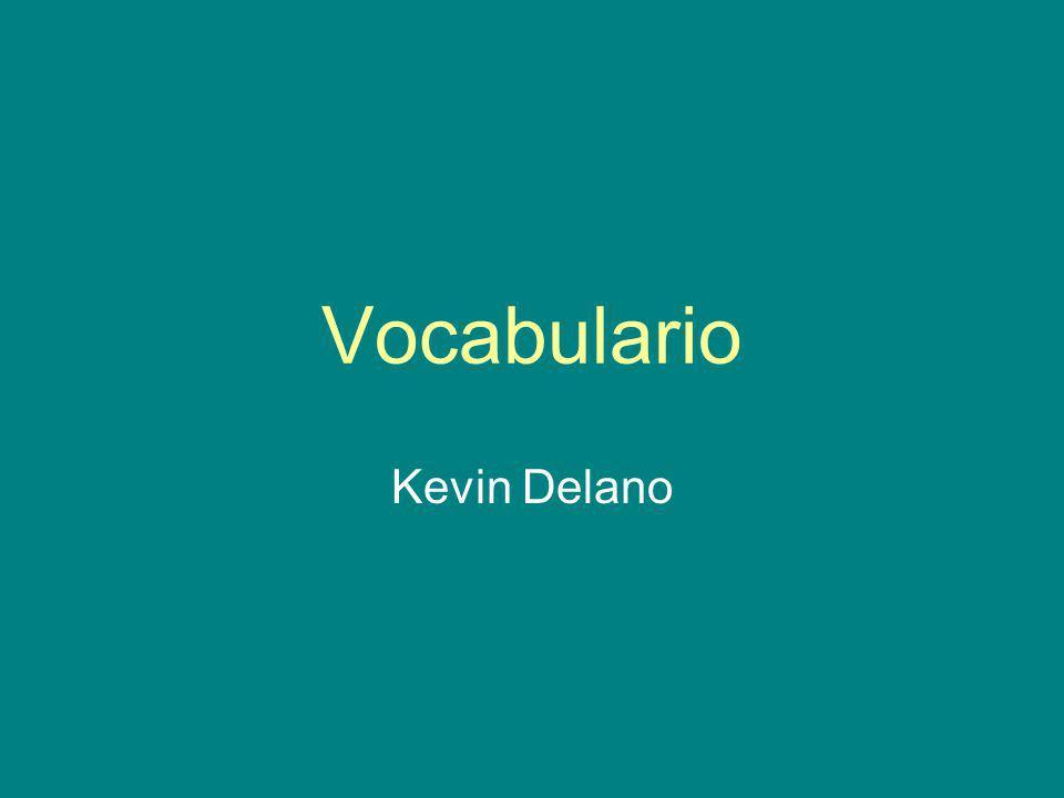 Vocabulario Kevin Delano