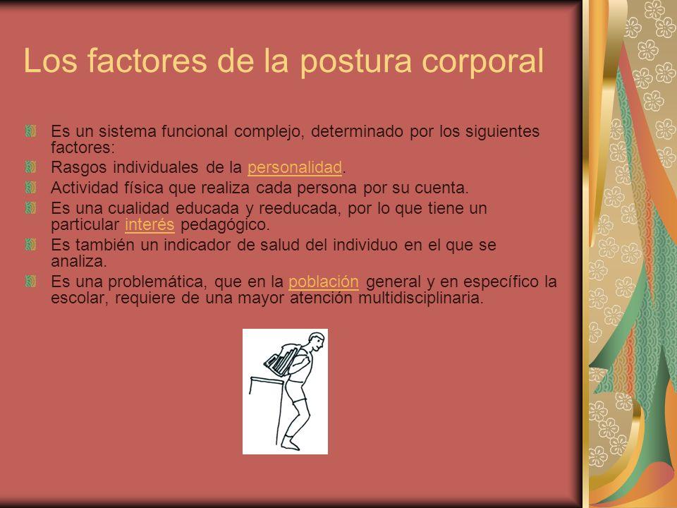 Los factores de la postura corporal