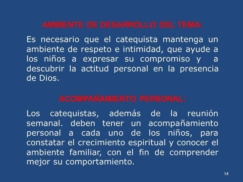 AMBIENTE DE DESARROLLO DEL TEMA: