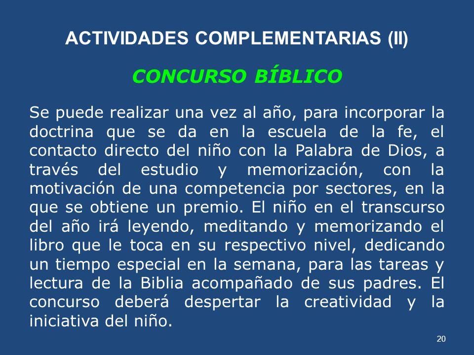 ACTIVIDADES COMPLEMENTARIAS (II)